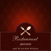 Modello di un menu ristorante — Vettoriale Stock