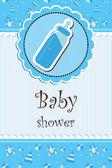 Baby shower - girl — Stock Vector