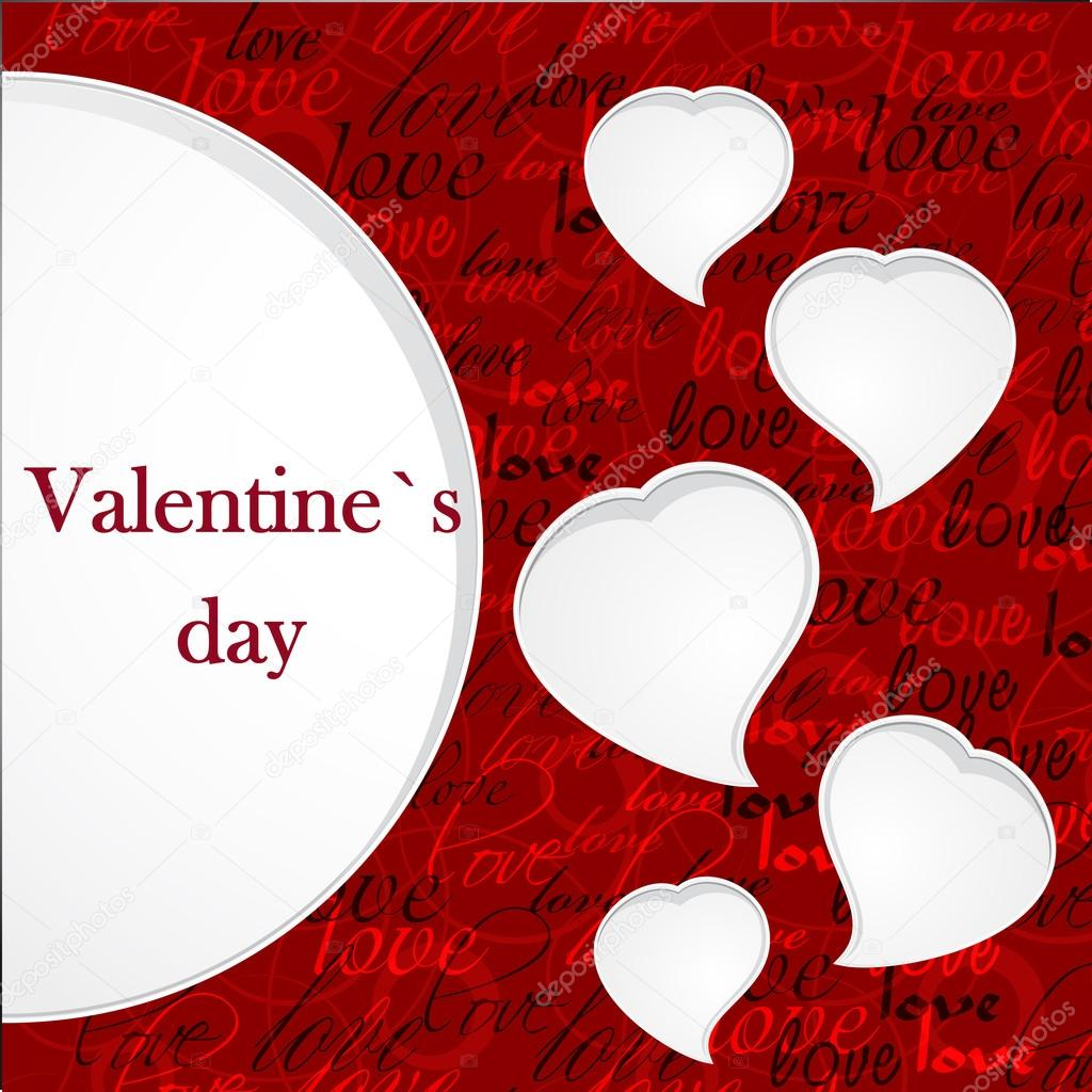Valentine`s card — Stockvectorbeeld #12706859