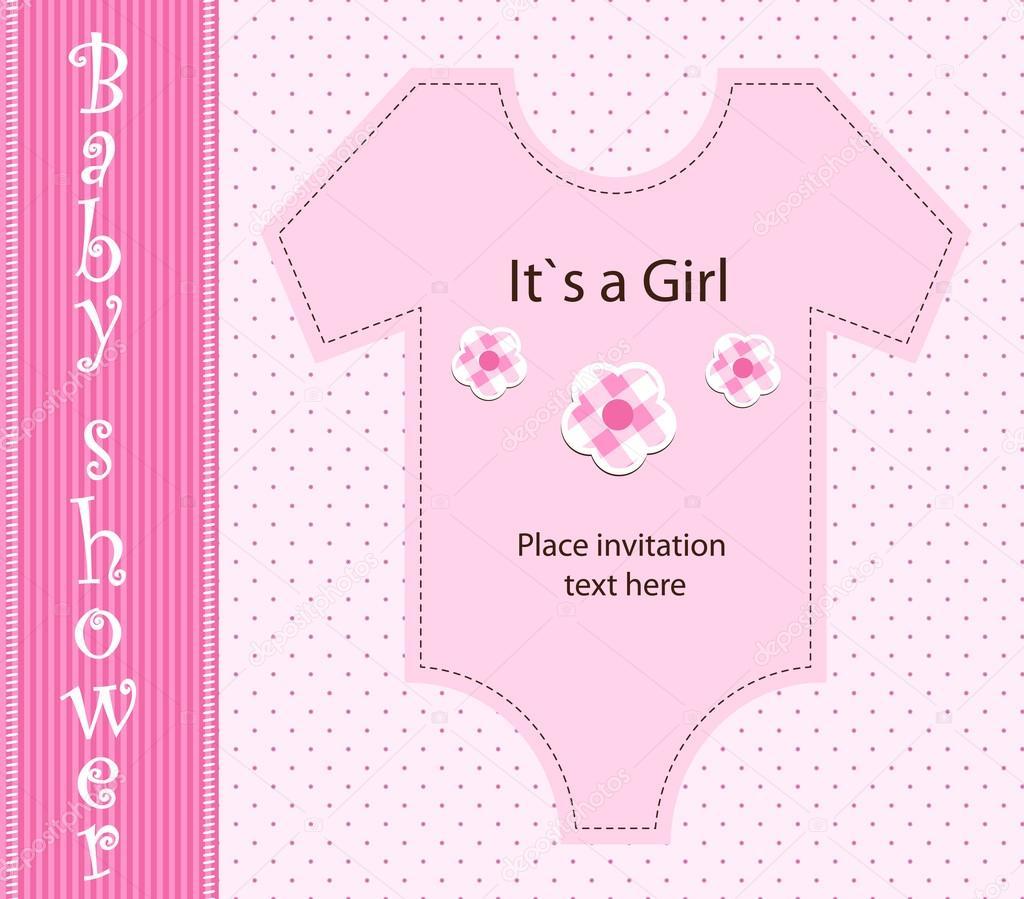 婴儿送礼-女孩 — 矢量图片作者 blondina103