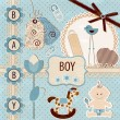 Scrapbook Baby Boy Set — Stock Vector #12936858