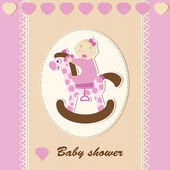 Baby shower - girl — Stock Vector