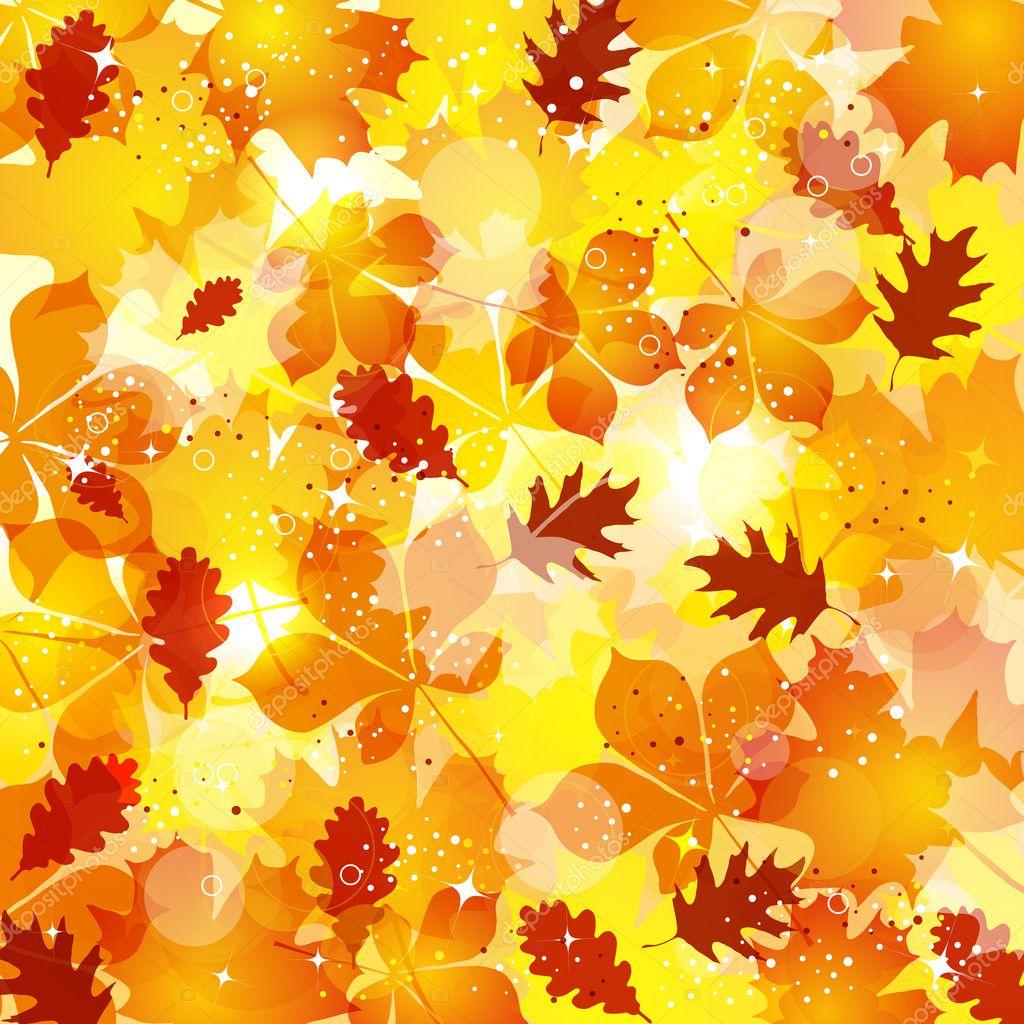 秋天的树叶背景 — 矢量图片作者 blondina103