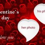 Valentine`s photo frame — Stock Photo #8730685