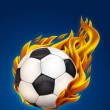 Soccer on fire - Stock Photo