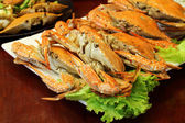 Boiled crab In the local restaurant — Stockfoto