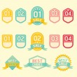 Modern soft color Design label - Stock Vector