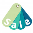 Vector Blue Sale Tag Isolated — Stock Vector