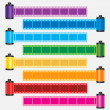 Film strip color vector — Stock Vector