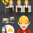 Stock Vector: Characters.worker set Vector