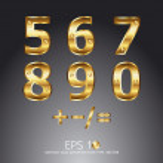 Gold alphabet vector — Stock Vector
