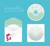 Simge alışveriş ile modern yumuşak renkli cd tasarımı — Stok Vektör