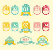 Modern soft color Design label — Stock Vector