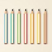Lápis de cor vector — Vetorial Stock
