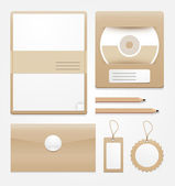 Stationary brown paper/vector — Stock Vector