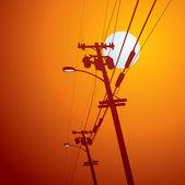 Electricity post vector — Stock Vector