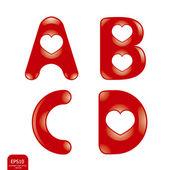 Love alphabet — Stock Vector