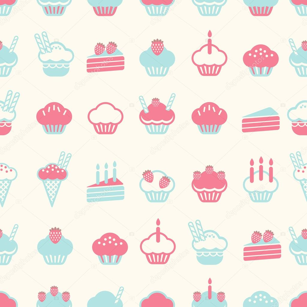 Design Patterns Of Cake : Kusursuz pasta desen yumusak vintage renk stili. vektor ...