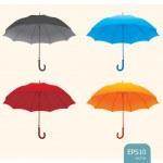 Umbrellas set vector — Stock Vector