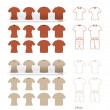 Tshirt fashion set vector — Stockvectorbeeld