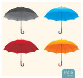 Umbrellas set vector — Stock Vector