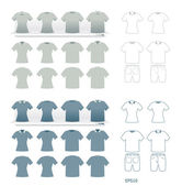 Tshirts fashion set vector — Stock Vector