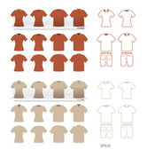 Tshirt fashion set vector — Stock Vector