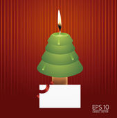 Christmas tree candle vector — Stock Vector