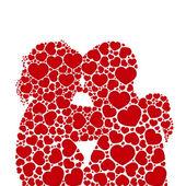 Kalp sevgi siluet çiftler concept.vector — Stok Vektör