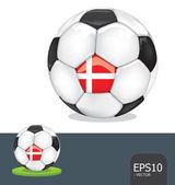 Soccer euro2012 denmark vector — Stock Vector