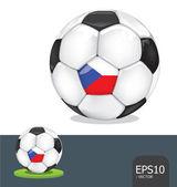 Soccer ball czech euro flag vector — Stock Vector