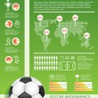 Infographic soccer vector — Stock Vector #19464017