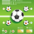 Stock Vector: Soccer info graphic vector