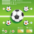 Soccer info graphic vector — Stock Vector #19463889
