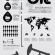 Infographic oil of the world vector — Stock Vector