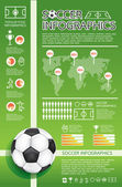 Infographic soccer vector — Stock Vector
