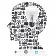 Elements are small icons Finance make in man think with light bu — Imagen vectorial
