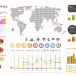 Infographics set and Information weather world Graphics vector s — Stock Vector
