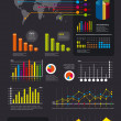 Infographics set and Information Graphics vector — Stock Vector
