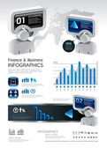 Info graphic finance and business vector with icons — Stock Vector