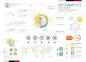 Infografía vector — Vector de stock