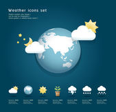 Modern weather icons color Design / can be used for infographics — Stock Vector