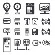 Finance and business vector icon set vector — Stock Vector