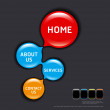 Royalty-Free Stock Vector Image: Circles modern web design template vector