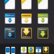 Vector apps icon set tablet & mobile phone app — Imagen vectorial