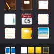 Vector apps icon set tablet & mobile phone app - Imagens vectoriais em stock