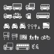 Transportation icons set vector - Stock Vector