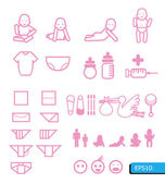Baby icons vector — Stock Vector