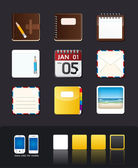 Vector apps icon set tablet & mobile phone app — Vettoriale Stock