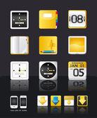 Apps icon set vector tablet & mobile phone apps — Stockvektor